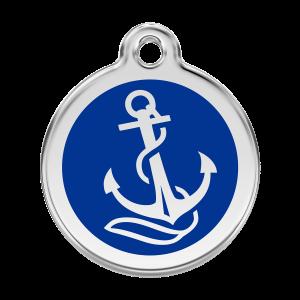 Médaille à graver pour chiens et chats Red Dingo - Ancre - Taille L - Ref. Red Dingo : 01-AN-DB-LG