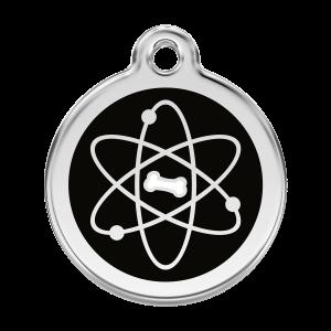 Médaille à graver pour chiens et chats Red Dingo - Atome - Taille L - Ref. Red Dingo : 01-AT-BB-LG
