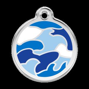 Médaille à graver pour chiens et chats Red Dingo - Camouflage - Taille L - Ref. Red Dingo : 01-CB-DB-LG