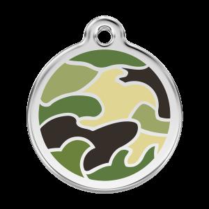 Médaille à graver pour chiens et chats Red Dingo - Camouflage - Taille L - Ref. Red Dingo : 01-CG-GR-LG