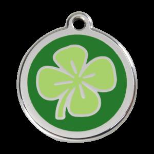 Médaille à graver pour chiens et chats Red Dingo - Trèfle - Taille L - Ref. Red Dingo : 01-CV-GR-LG