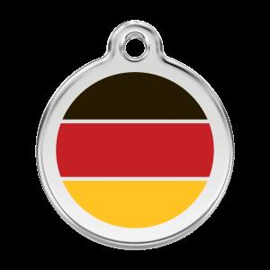 Médaille à graver pour chiens et chats Red Dingo - Drapeau Allemand - Taille L - Ref. Red Dingo : 01-DE-RE-LG