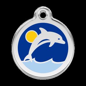 Médaille à graver pour chiens et chats Red Dingo - Dauphin - Taille L - Ref. Red Dingo : 01-DL-DB-LG