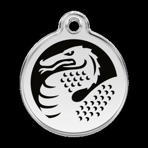 Médaille à graver - Dragon - Taille L - Ref. Red Dingo : 01-DN-BB-LG