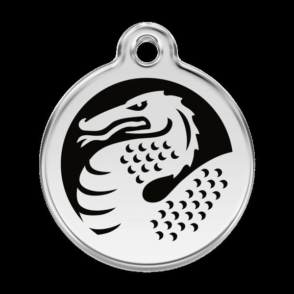 Médaille à graver pour chiens et chats Red Dingo - Dragon - Taille L - Ref. Red Dingo : 01-DN-BB-LG
