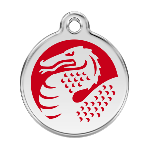 Médaille à graver - Dragon - Taille L - Ref. Red Dingo : 01-DR-RE-LG