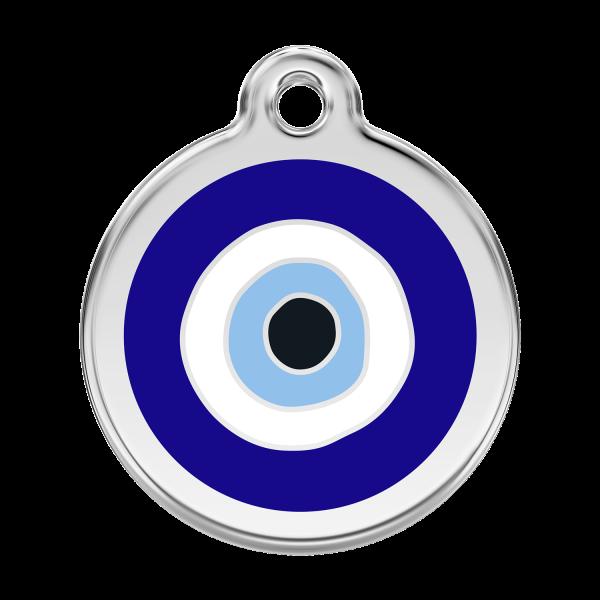 Médaille à graver pour chiens et chats Red Dingo - Mauvais Œil - Taille L - Ref. Red Dingo : 01-EE-DB-LG