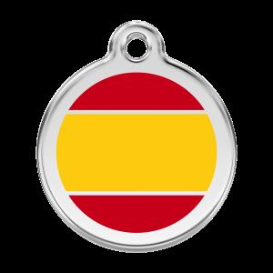 Médaille à graver - Drapeau Espagnol - Taille L - Ref. Red Dingo : 01-ES-YE-LG
