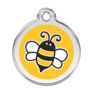 Médaille à graver - Bumble Bee - Taille L - Ref. Red Dingo : 01-EY-YE-LG