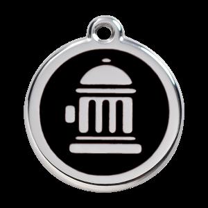 Médaille à graver - Bouche D'incendie - Noir - Taille L - Ref. Red Dingo : 01-FH-BB-LG