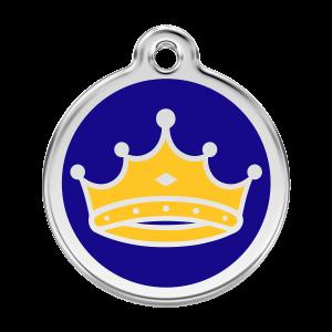 Médaille à graver pour chiens et chats Red Dingo - Roi - Taille L - Ref. Red Dingo : 01-KC-DB-LG