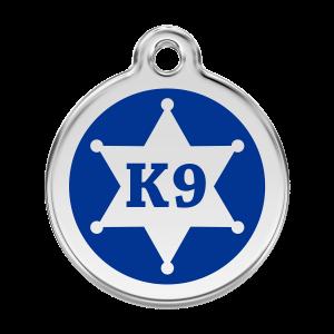 Médaille à graver pour chiens et chats Red Dingo - Shérif K9 - Taille L - Ref. Red Dingo : 01-KN-DB-LG