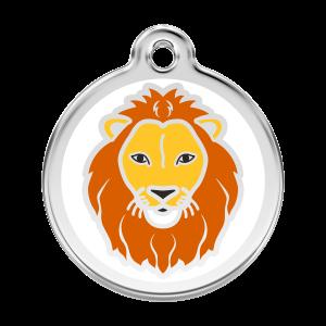 Médaille à graver pour chiens et chats Red Dingo - Lion - Taille L - Ref. Red Dingo : 01-LI-WT-LG