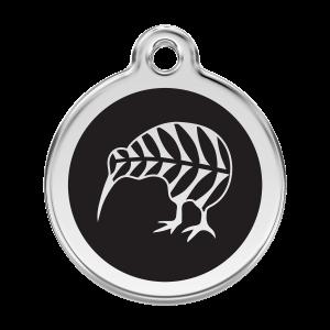 Médaille à graver pour chiens et chats Red Dingo - Kiwi - Taille L - Ref. Red Dingo : 01-NZ-BB-LG