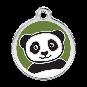 Médaille à graver pour chiens et chats Red Dingo - Panda - Taille L - Ref. Red Dingo : 01-PA-GR-LG
