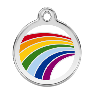 Médaille à graver pour chiens et chats Red Dingo - Arc En Ciel - Taille L - Ref. Red Dingo : 01-RA-WT-LG