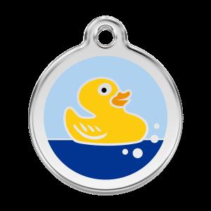 Médaille à graver pour chiens et chats Red Dingo - Canard En Caoutchouc - Taille L - Ref. Red Dingo : 01-RU-LB-LG
