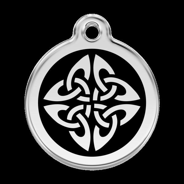 Médaille à graver pour chiens et chats Red Dingo - Flèches Tribales - Noir - Taille L - Ref. Red Dingo : 01-TA-BB-LG