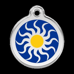 Médaille à graver pour chiens et chats Red Dingo - Tribal Sun - Taille L - Ref. Red Dingo : 01-TS-DB-LG