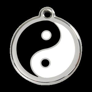 Médaille à graver - Ying Et Yang - Taille L - Ref. Red Dingo : 01-YY-BB-LG