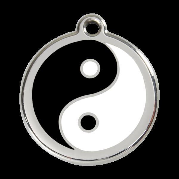 Médaille à graver pour chiens et chats Red Dingo - Ying Et Yang - Taille L - Ref. Red Dingo : 01-YY-BB-LG