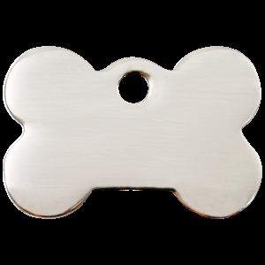 Médaille à graver pour chiens et chats Red Dingo - Os - Taille L - Ref. Red Dingo : 02-BN-ZZ-LG