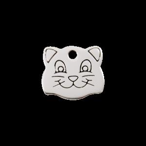 Médaille à graver - Tête De Chat - Taille S - Ref. Red Dingo : 02-CF-ZZ-SM