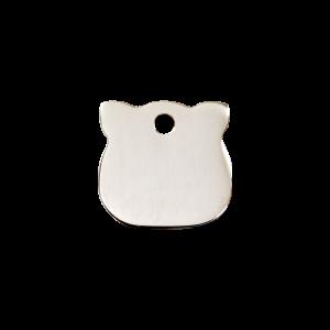 Médaille à graver pour chiens et chats Red Dingo - Tête De Chat - Taille S - Ref. Red Dingo : 02-CH-ZZ-SM