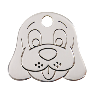 Médaille à graver pour chiens et chats Red Dingo - Tête De Chien - Taille L - Ref. Red Dingo : 02-DF-ZZ-LG