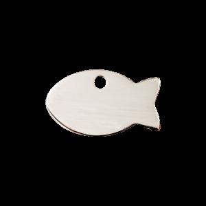 Médaille à graver - Poisson - Taille S - Ref. Red Dingo : 02-FI-ZZ-SM