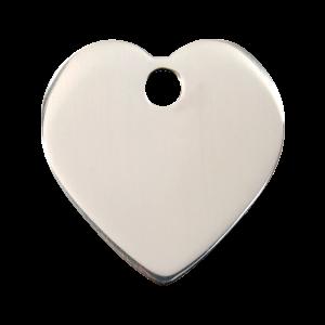 Médaille à graver - Coeur - Taille L - Ref. Red Dingo : 02-HT-ZZ-LG
