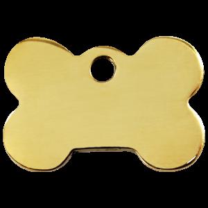 Médaille à graver - Os - Taille L - Ref. Red Dingo : 03-BN-ZZ-LG
