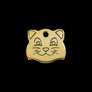 Médaille à graver - Tête De Chat - Taille S - Ref. Red Dingo : 03-CF-ZZ-SM
