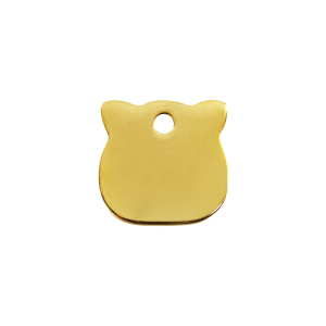 Médaille à graver - Tête De Chat - Taille S - Ref. Red Dingo : 03-CH-ZZ-SM