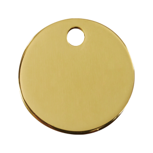 Médaille à graver pour chiens et chats Red Dingo - Cercle - Taille L - Ref. Red Dingo : 03-CL-ZZ-LG