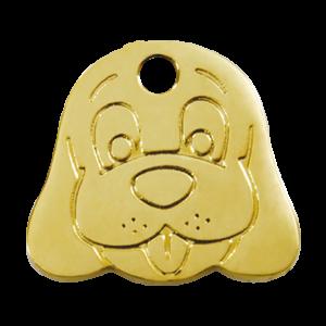 Médaille à graver - Tête De Chien - Taille L - Ref. Red Dingo : 03-DF-ZZ-LG