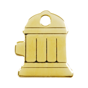 Médaille à graver - Bouche D'incendie - Taille L - Ref. Red Dingo : 03-FH-ZZ-LG