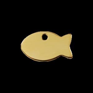 Médaille à graver - Poisson - Taille S - Ref. Red Dingo : 03-FI-ZZ-SM
