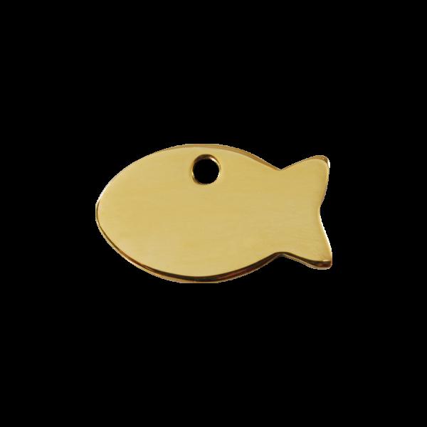 Médaille à graver pour chiens et chats Red Dingo - Poisson - Taille S - Ref. Red Dingo : 03-FI-ZZ-SM