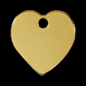 Médaille à graver pour chiens et chats Red Dingo - Coeur - Taille L - Ref. Red Dingo : 03-HT-ZZ-LG