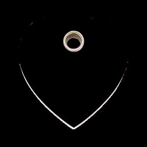 Médaille à graver - Coeur - Noir - Taille L - Ref. Red Dingo : 04-HT-BB-LG