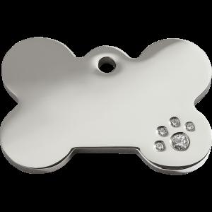 Médaille à graver - Os - Taille L - Ref. Red Dingo : 08-BN-ZZ-LG