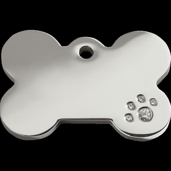 Médaille à graver pour chiens et chats Red Dingo - Os - Taille L - Ref. Red Dingo : 08-BN-ZZ-LG