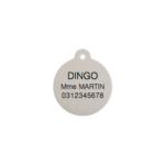 Médaille pour Chien Red Dingo Taille S - Exemple de Gravure