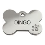 Médaille pour Chien Red Dingo Swarovski - Exemple de Gravure Verso